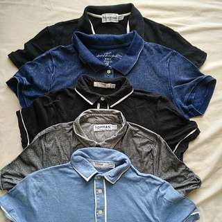 TOPMAN H&M Collared T-shirts x5