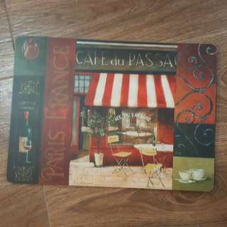 Paris cafe painting on board - bought from Paris!!