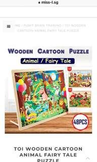 💋 TOI WOODEN CARTOON ANIMAL FAIRY TALE PUZZLE