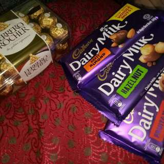 IMPORTED Cadbury and Ferrero
