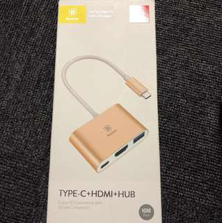 BASEUS Sharp Series Type C to HDMI + Hub Converter for Apple MacBook