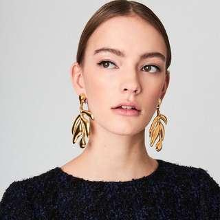 Leaf Gold Earring