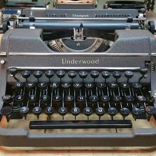1950s underwood typewriter