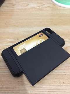 Apple IPHONE 7 黑色硬身套(可放八達通卡)