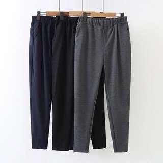 (XL~4XL) 2018 Spring Korean version of the elastic waist Harlan feet trousers