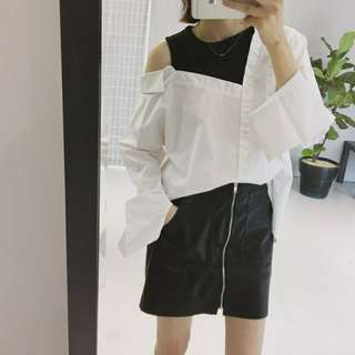 PO FAKE TWO PC OFFSHOULDER