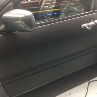Matte black door wrapping / cs3