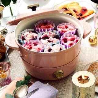 BRUNO Grill Pot一鍋四用多功能炆煮鍋((粉紅色限量版)