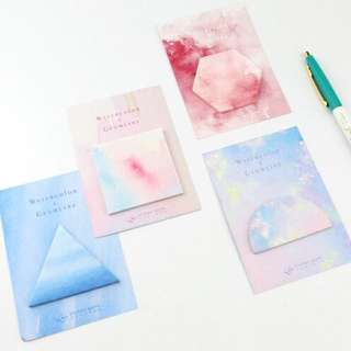 [Restocked] Watercolour / Geometric Sticky Note