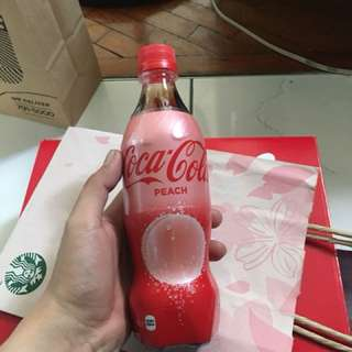 Coca Cola Peach PET bottle from Japan 500mL Coke