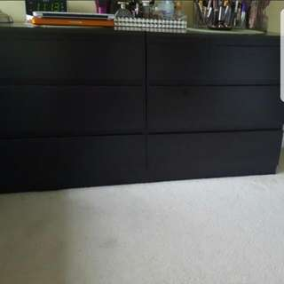 Bed frame and chest of drawers