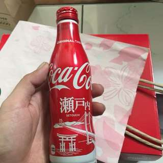 Coca Cola Special Edition Setouchi Aluminum Coke Bottle from Japan