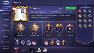 Mobile Legend Mythic account