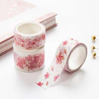 [Washi Tape] Pink Sakura Blossoms