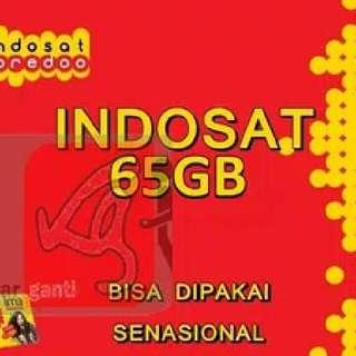 Kuota Indosat 65 Gb