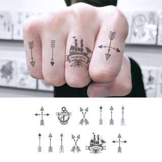 BN Instock Temporary Tattoo Temp Tattoos Tribal Shapes Tattoo Pattern Hand