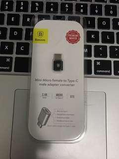Mini Micro female to Type-C male adapter converter