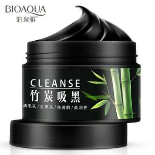 PO Bioaqua Bamboo Charcoal Facial Wash