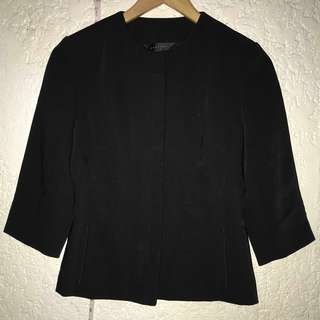 Black Ladies Coat Formal Office Jacket