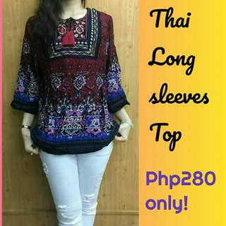 🌞 New! Sale! Thai Longsleeves Top