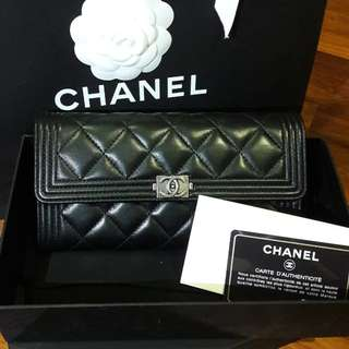 Authentic chanel boy sarah wallet