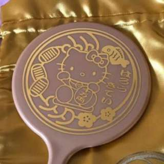 Hello Kitty Fortune Cat Mirror w gold pouch