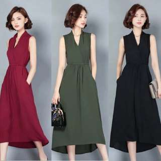[PO] Korean Long Vest Dress (46)