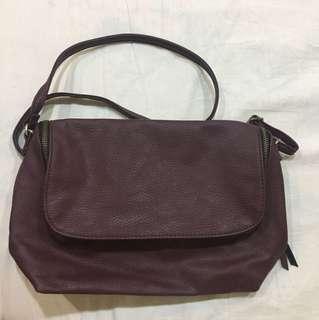 Maroon Cross-Body Bag