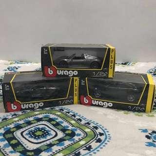 1/24 Burago Cars Collection 1,000 each!!