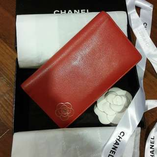 Chanel camillian flower wallet