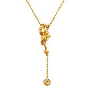 Custom dragon ball wealth gold plated necklace