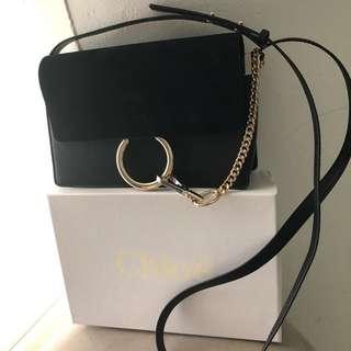 Chloe Faye Black Small Shoulder Bag