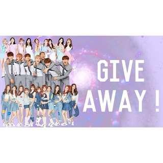 Kpop give away (Twice, BTS, ioi)