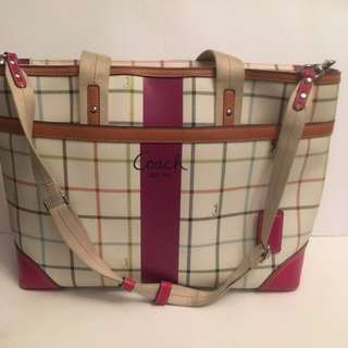 Authentic Large Coach Tote Handbag