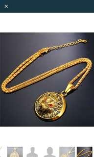 Lion head pendant necklace for men