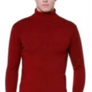 Sweater Rajut Pria Polos