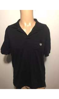 Chaps Men's Black Solid Polo Shirt