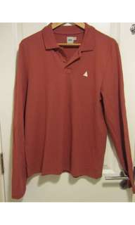 ASOS Long Sleeve RED Polo Shirt