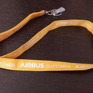 空中巴士客戶證件頸繩Airbus customer landyard