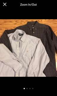 🔥👔👌💯 authentic 2 Polo Ralph Lauren Button Down Shirts