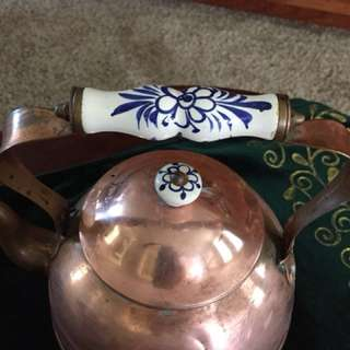 Brass kettle and more