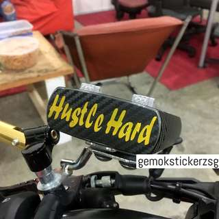 HUSTLE HARD IU UNIT DECAL