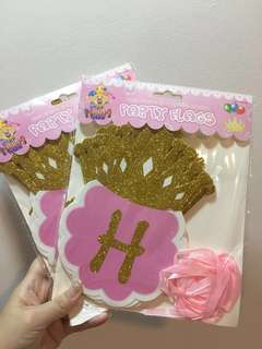 Happy Birthday Party Flags - Pink~