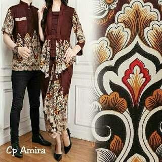 COUPLE AMIRA 138000 bahan katun rayon batik motif asli  COW PJ-70, LD-102, CEW PJ-63, LD-96, ROK LILIT UK 130x90