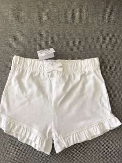 Baby white short pants