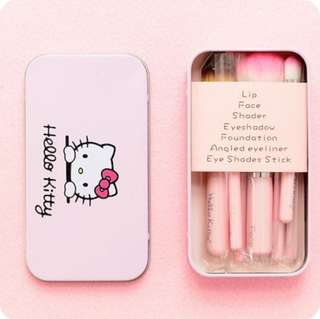 Hello Kitty 7 in 1 Makeup Brush Set
