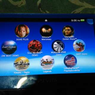 RUSH Ps vita 1000 fat with games(pwede swap ps4 console)
