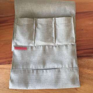 Storage Solution Khaki for 3 remotes and tissue box
