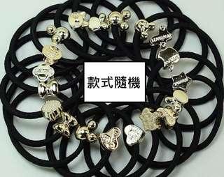 24個起售㊣兒童/成人不傷髮橡皮繩 (黑色) 款式隨機 $24/24個
