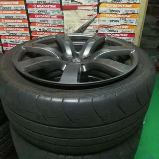 "GTR 20"" ORIGINAL RIMS FOR SALE WITH TYRES"
